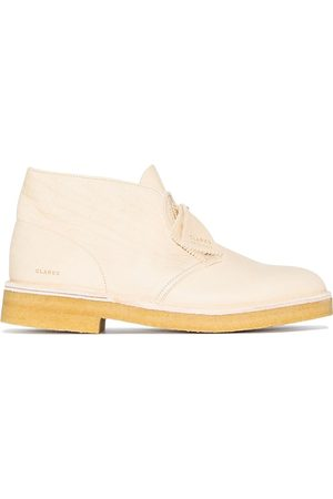 Clarks Men Lace-up Boots - Wallabee leather Desert boots - Neutrals