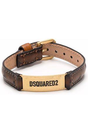 Dsquared2 Men Bracelets - Logo-plaque leather bracelet
