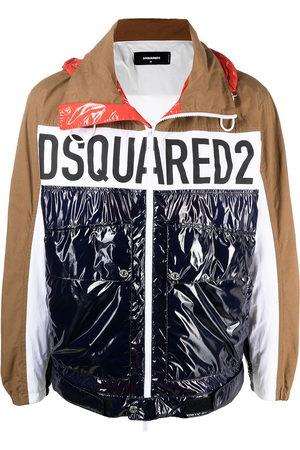 Dsquared2 Men Sports Jackets - Logo-print colour-block windbreaker