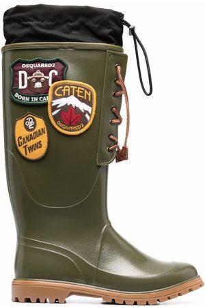 Dsquared2 Men Boots - Logo-patch wellington boots