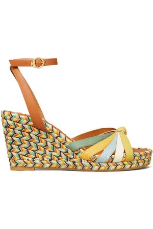 Tory Burch Women Wedge Sandals - MULTICOLORED WEDGE ESPADRILLE