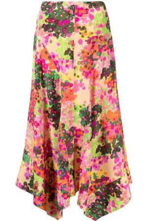 Stella McCartney Women Printed Skirts - Floral-print Naya skirt - Neutrals