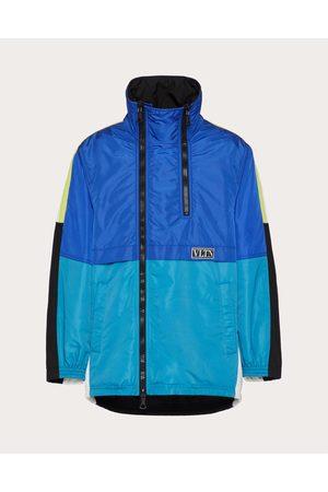 VALENTINO Nylon Pea Coat With Vltn Tag Color Block Man / 100% Poliammide 46