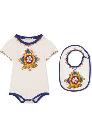 Dolce & Gabbana 2 piece Carretto-print jersey gift set