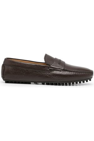 Emporio Armani Pebbled-leather driving shoes
