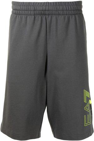 EA7 Logo-print bermuda shorts - Grey