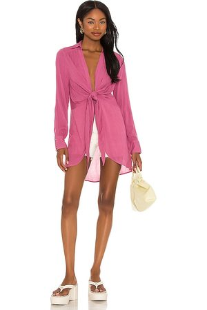 Free People Women Tunics - Worlds Apart Tunic in Pink.