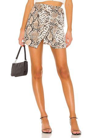 superdown Alyssa Wrap Skirt in Neutral.