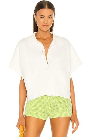 LINE & DOT Emma Collared Pocket Sweater Top in .
