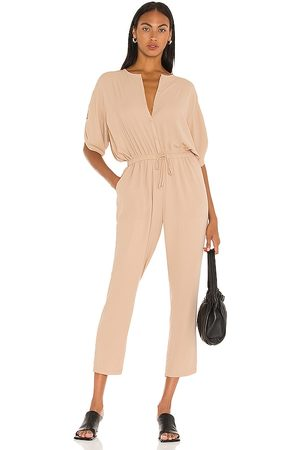 ATM Anthony Thomas Melillo Georgette Jumpsuit in Tan.