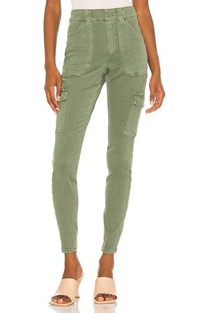 Spanx Women Cargo Pants - Ankle Cargo Pant in Sage.