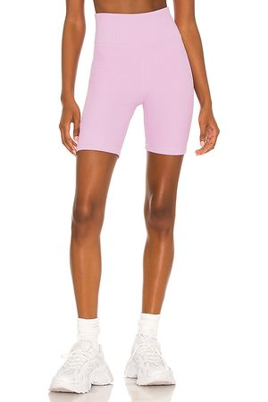 The Upside Lilac Jacquard Dance Spin Short in Lavender.
