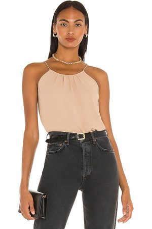 ATM Anthony Thomas Melillo Georgette Halter Top in Tan.