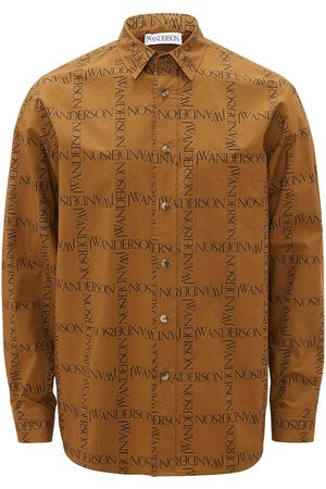 JW Anderson Logo grid pattern shirt