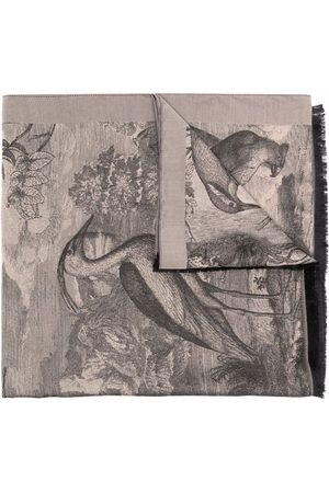 Etro Graphic-print silk scarf - Neutrals