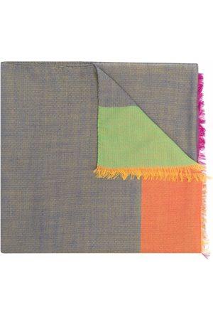 Etro Colour-block silk scarf