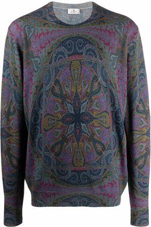 Etro Ornamental-print virgin wool jumper