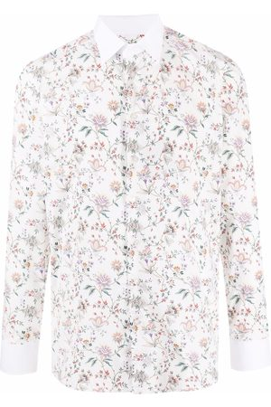 Etro Men Long sleeves - Floral-print long-sleeve shirt