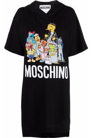 Moschino X Sesame Street© hooded jersey dress