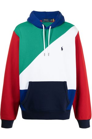 Polo Ralph Lauren Logo-embroidered colour-block hoodie - Multicolour