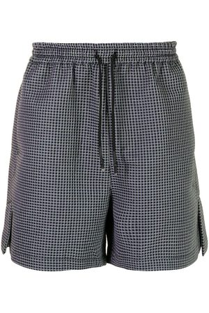 Off-Duty Men Shorts - Plaid-print drawstring-waist deck shorts - PLAID