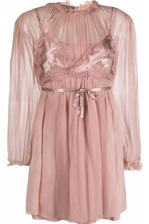 Alberta Ferretti Women Bras - Bralette-overlay chiffon dress