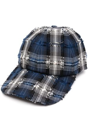 Off-Duty Frayed-plaid cap