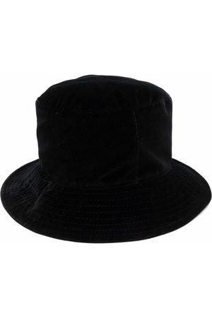 Alberta Ferretti Logo-plaque cotton bucket hat