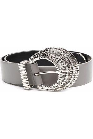 Alberta Ferretti Buckled leather belt - Grey