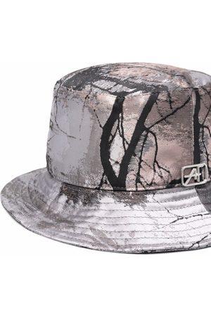 Alberta Ferretti Graphic-print bucket hat - Grey