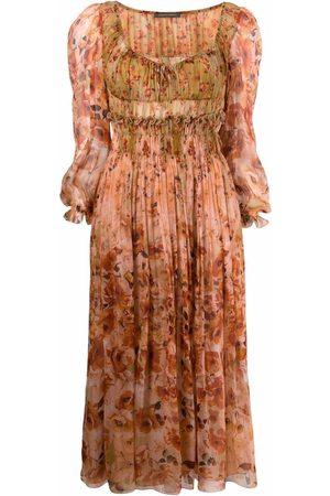 Alberta Ferretti Floral-print midi dress