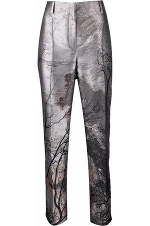 Alberta Ferretti Women Formal Pants - Straight-leg tailored trousers - Grey