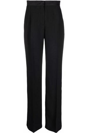 Alberta Ferretti High-waisted straight-leg trousers