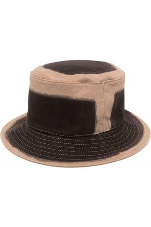 Alberta Ferretti Two-tone cotton bucket hat - Neutrals