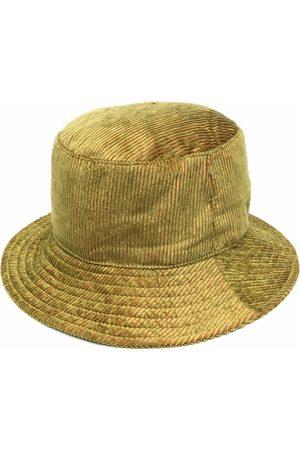 Alberta Ferretti Women Hats - Logo-plaque corduroy bucket hat