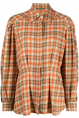 Alberta Ferretti Check-print flared shirt