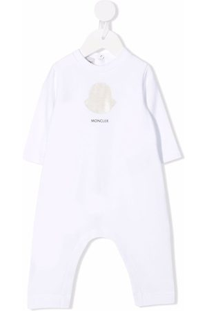 Moncler Logo-print stretch-cotton romper