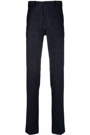 Etro Men Straight Leg Pants - Paisley-print straight-leg trousers