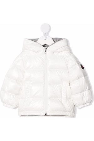 Moncler Puffer Jackets - Logo-print padded hooded down jacket