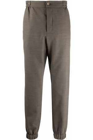 Etro Men Stretch Pants - Elasticated stretch-wool trousers