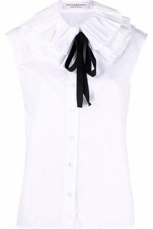 Serafini Ruffled-collar short-sleeve shirt