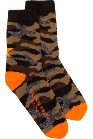 Golden Goose Socks - Camouflage intarsia socks - Multicolour