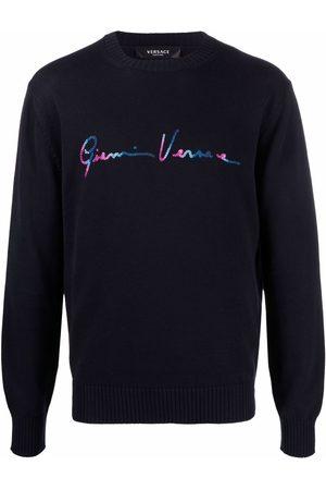 VERSACE Intarsia-knit logo jumper