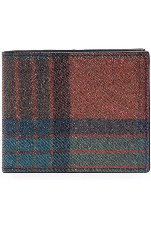 Etro Men Wallets - Plaid-check bi-fold wallet