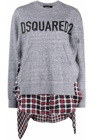 Dsquared2 Logo-print distressed sweatshirt - Grey