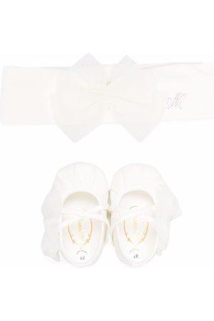 MONNALISA Bow-detail ballerinas-and-headband set