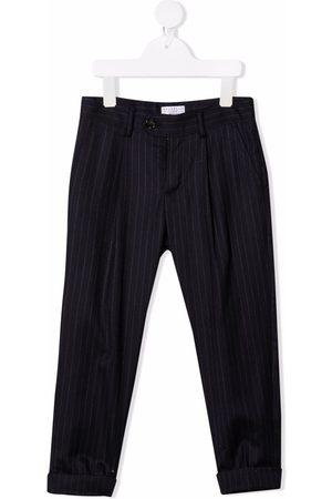 Brunello Cucinelli Boys Formal Pants - Stripe-print pleat-detail tailored trousers