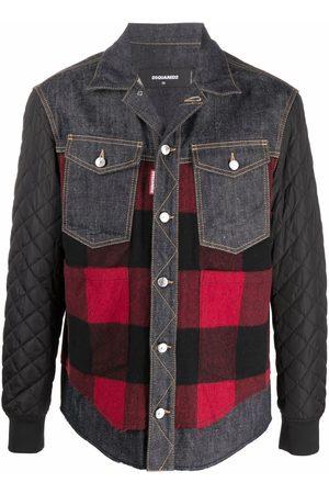 Dsquared2 Denim-check panelled shirt jacket