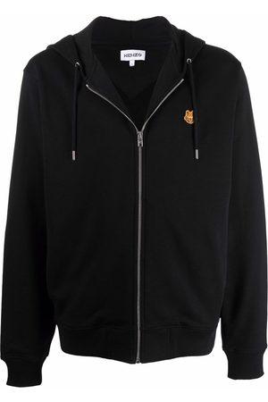 Kenzo Tiger motif zip-up hoodie