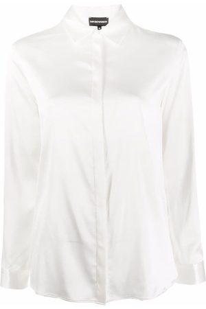 Emporio Armani Long-sleeve silk shirt - Neutrals